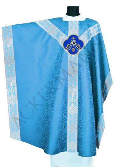 Blue Marian Monastic Chasuble Chi-Rho symbol ☧ model 211