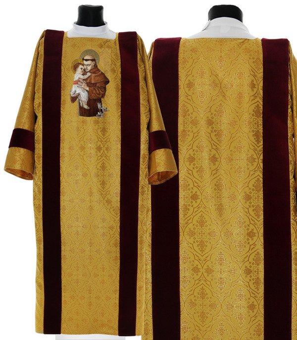 Gold Gothic Dalmatic Saint Anthony of Padua model 416