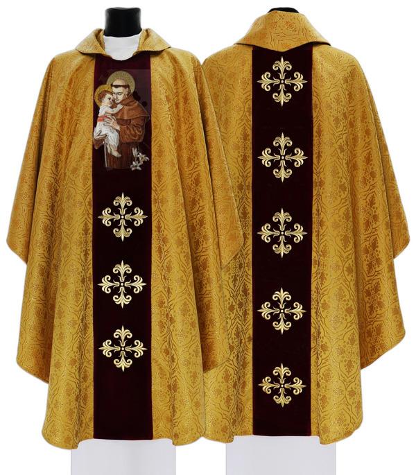 Gothic Chasuble Saint Anthony of Padua model 417