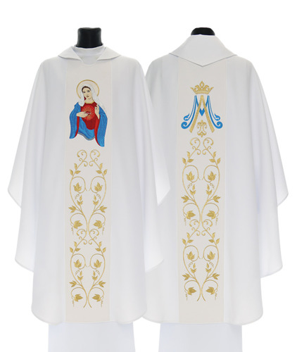 Marian Gothic Chasuble The United Heart of Mary model 734