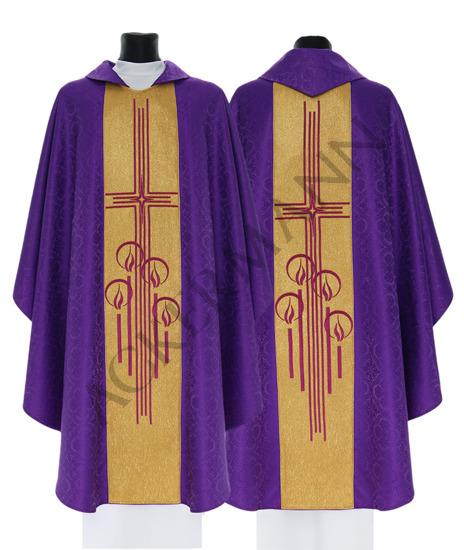 Purple Gothic Chasuble model 761