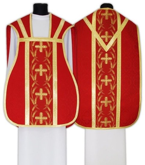 Red Roman Chasuble model 032