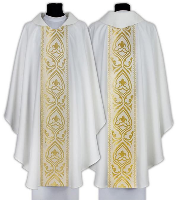 White Gothic Chasuble model 031
